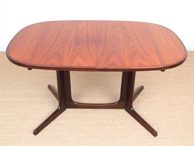Mid Century Modern Dining Table In Rosewood 6 10 Seats At 1stdibs