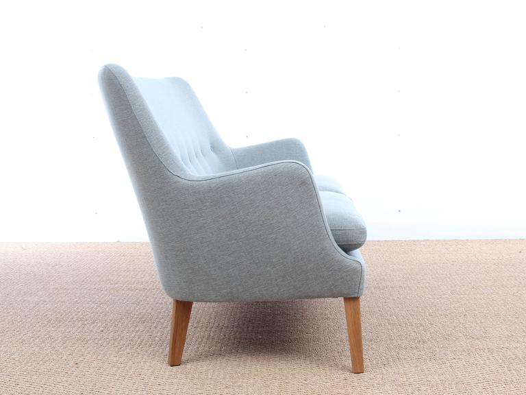 Mid-Century Modern scandinavian two seats sofa by Arne Vodder AV 53 new release. On demand only. Delivery time: 6 weeks. Available in three different fabrics. Samples on demand.
