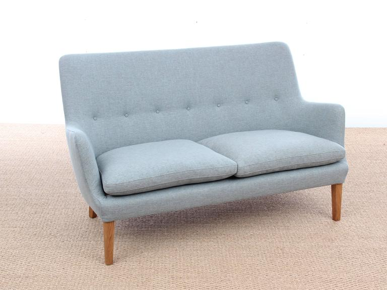 Mid-Century Modern Scandinavian Two Seats Sofa by Arne Vodder Av 53 New Release In Excellent Condition For Sale In Courbevoie, FR