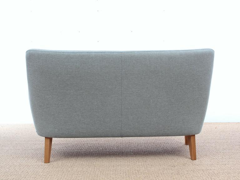 Danish Mid-Century Modern Scandinavian Two Seats Sofa by Arne Vodder Av 53 New Release For Sale
