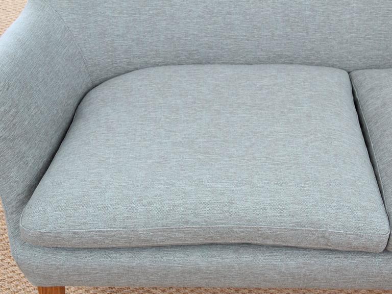Fabric Mid-Century Modern Scandinavian Two Seats Sofa by Arne Vodder Av 53 New Release For Sale