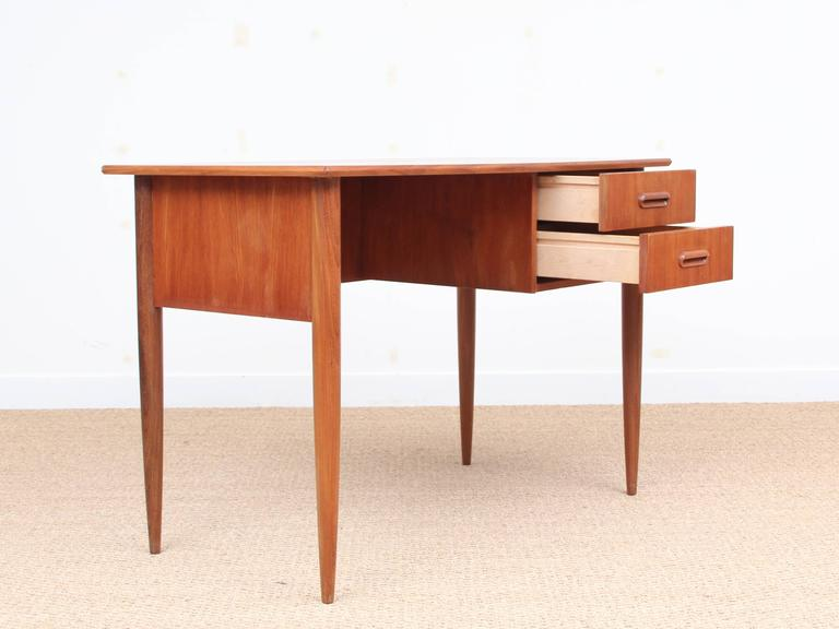 custom standing desk kidney shaped mid. Custom Standing Desk Kidney Shaped Mid Midcentury Modern Small In Teak 2 U
