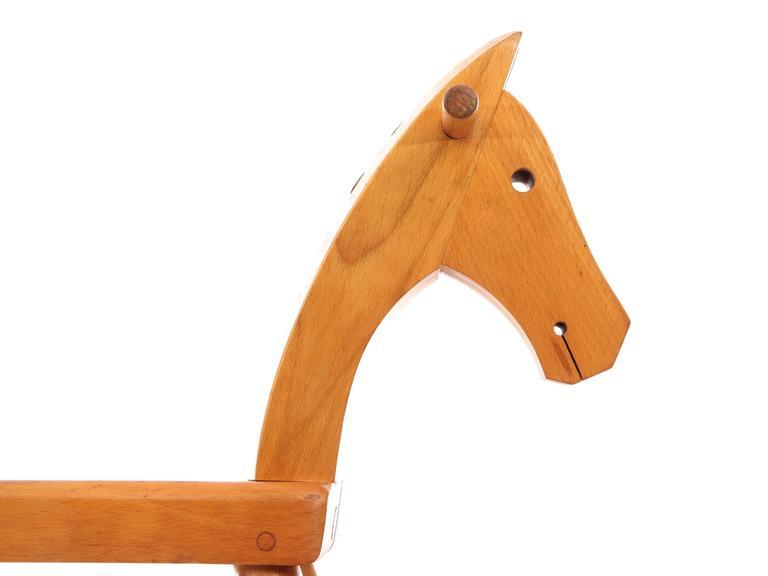 Mid Century Modern Scandinavian Rocking Horse By Kay