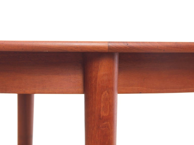 Mid-20th Century Mid-Century Modern Scandinavian Round Dining Table in Teak For Sale