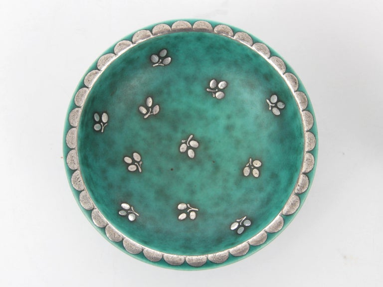 Mid-20th Century Set of Small Ceramic Plate and Cup, Model Argenta by Wilhelm Kåge for Gustavsber For Sale