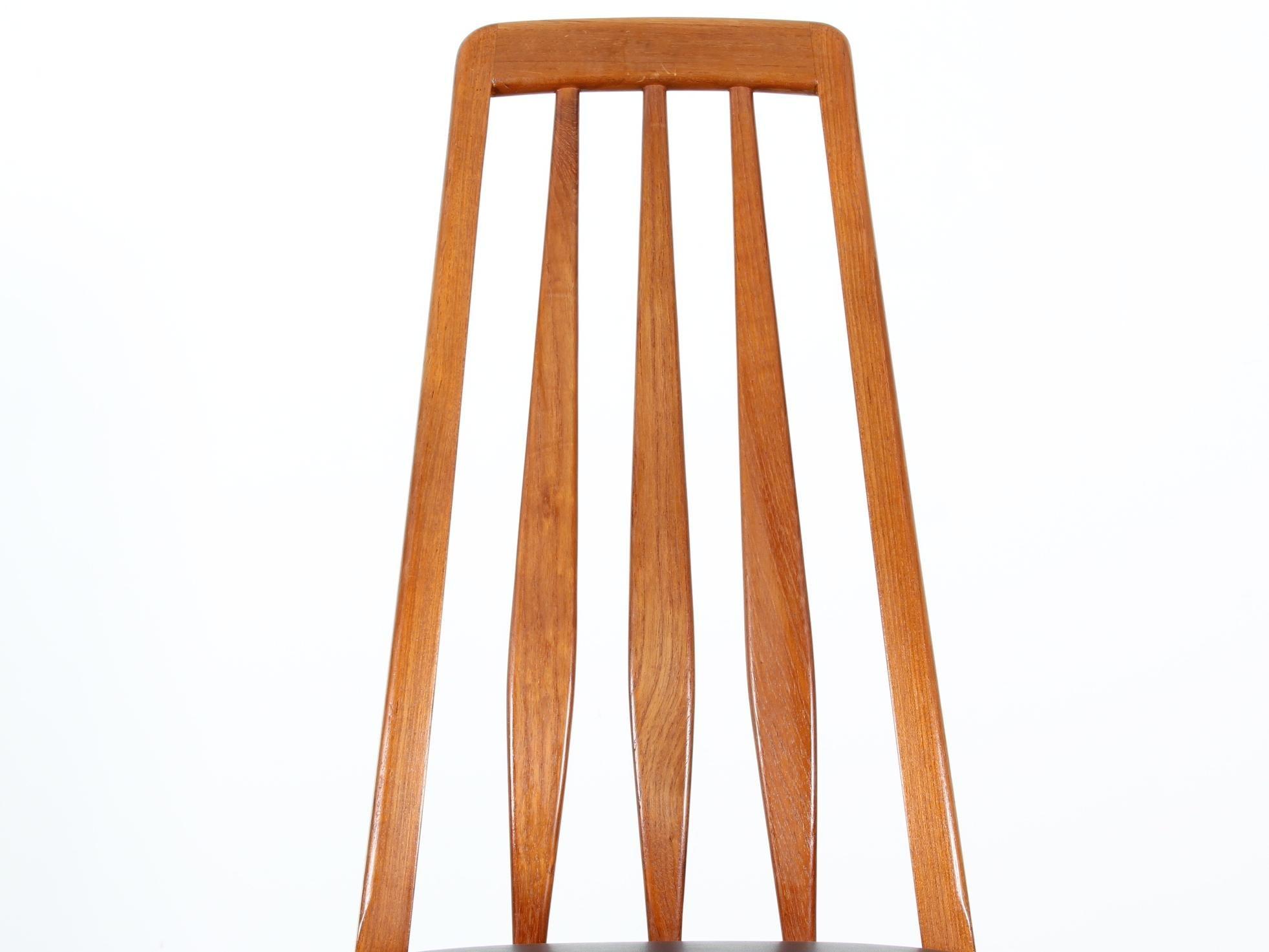 Mitte Des Jahrhunderts Moderner Skandinavischer Satz Von 4 Stühlen Teakholz  Modele Eva Von Niels Koefo 6