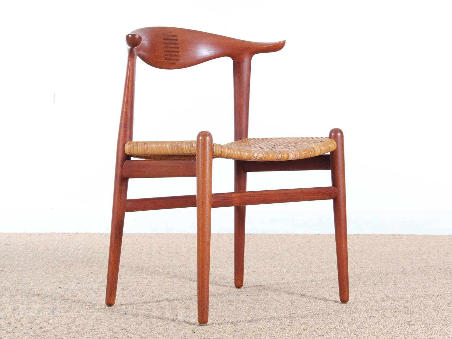 Cow Horn Chair In Teak By Hans Wegner For Johannes Hansen For Sale At 1stdibs