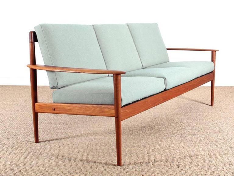 Danish Modern Three-Seat Sofa in Teak, Model PJ56/3 at 1stdibs