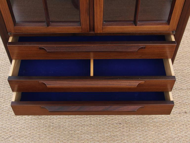 how to paint kitchen cabinets mid century modern vitrine in rosewood at 1stdibs 17192