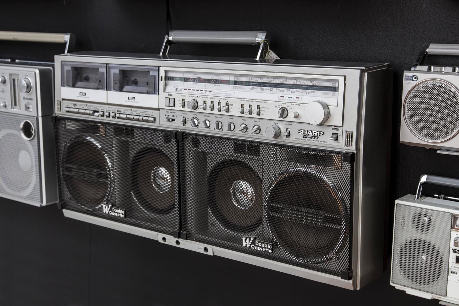 Unique Vintage Boombox Collection From The 1980s For Sale