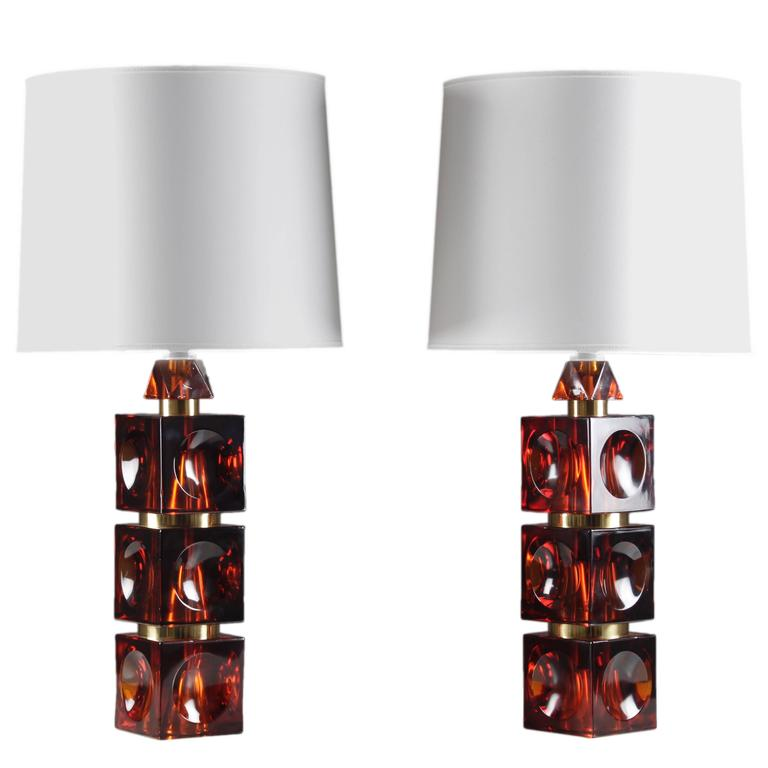 Pair of Rare Swedish Mid-Century Table Lamps