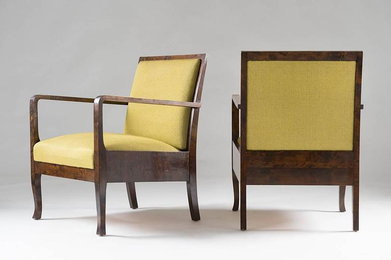 Swedish Art Deco Lounge Chairs In Excellent Condition For Sale In Karlstad, SE