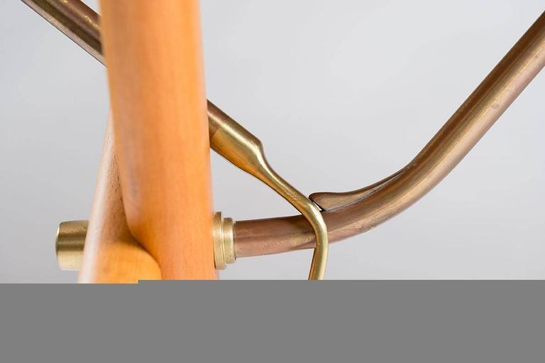 Brass Midcentury Hans Wegner Drop-Leaf Table AT-304 For Sale