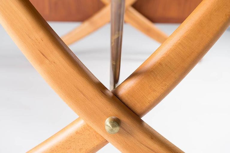 Midcentury Hans Wegner Drop-Leaf Table AT-304 For Sale 1