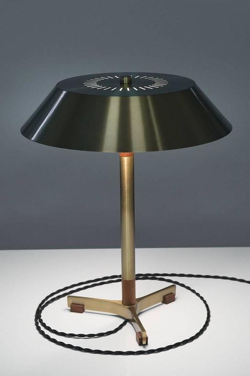 """Danish Table Lamp """"President"""" by Jo Hammerborg for Fog & Mørup 8"""