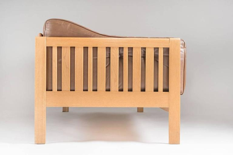 Scandinavian Modern Swedish Mid-Century Sofa in Oak and Leather