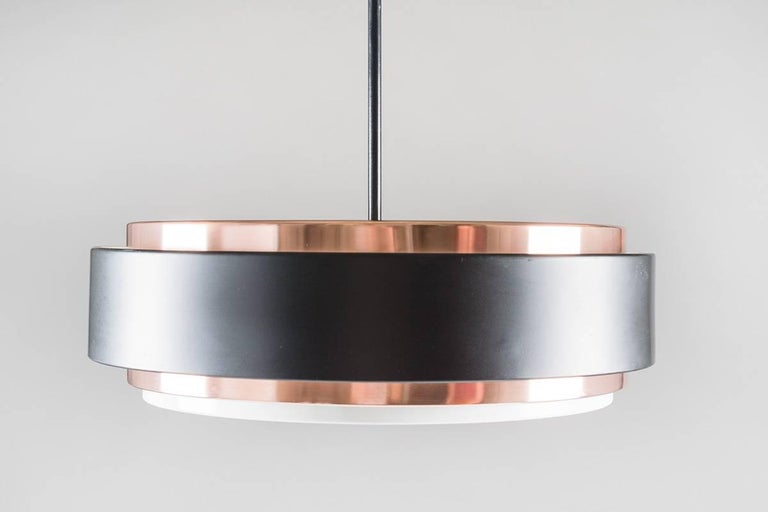 Mid-Century Modern Scandinavian Pendant in Copper by Jo Hammerborg for Fog & Mørup For Sale