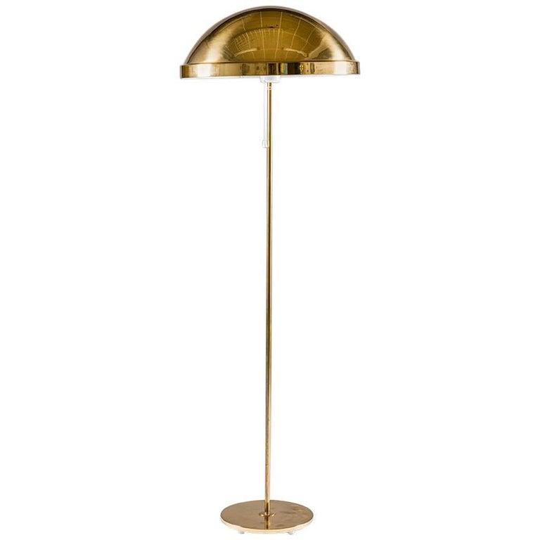 Floor Lamp in Brass by Eje Ahlgren for Bergboms