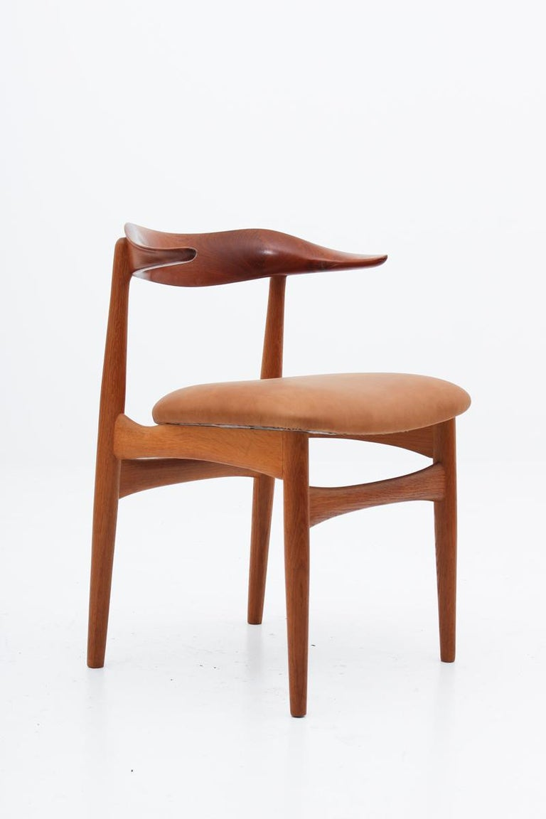 Leather Set of Eight Danish Dining Chairs