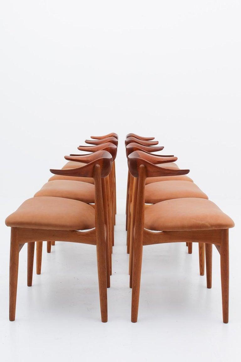 Mid-Century Modern Set of Eight Danish Dining Chairs