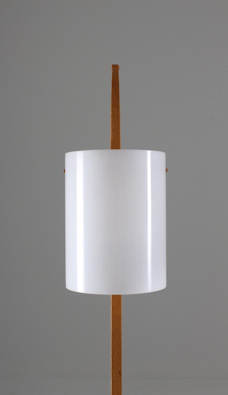 Mid-Century Modern Swedish Midcentury Table Lamps in Acrylic and Oak by Luxus, 1960s For Sale