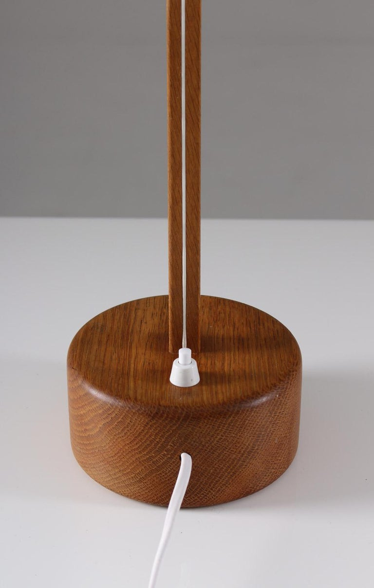 Swedish Midcentury Table Lamps in Acrylic and Oak by Luxus, 1960s For Sale 3