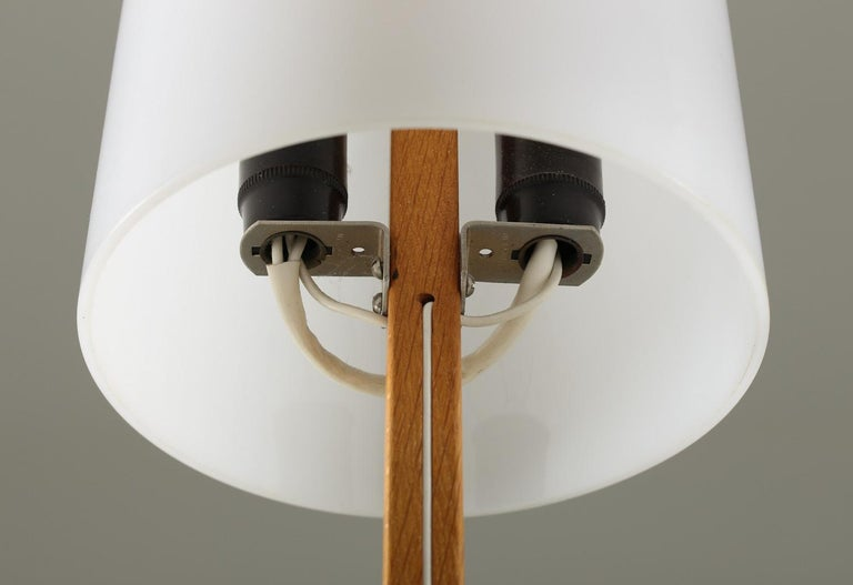 Swedish Midcentury Table Lamps in Acrylic and Oak by Luxus, 1960s For Sale 2