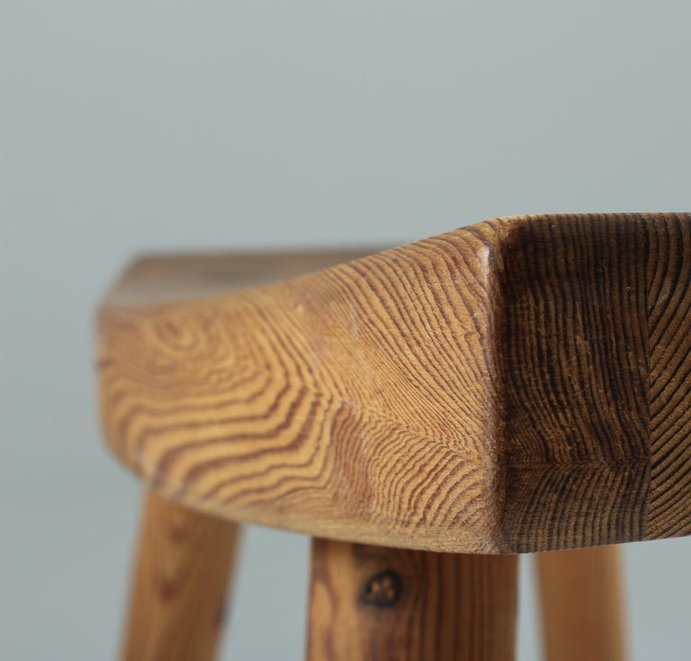 20th Century Swedish Stool in Pine, 1940s For Sale