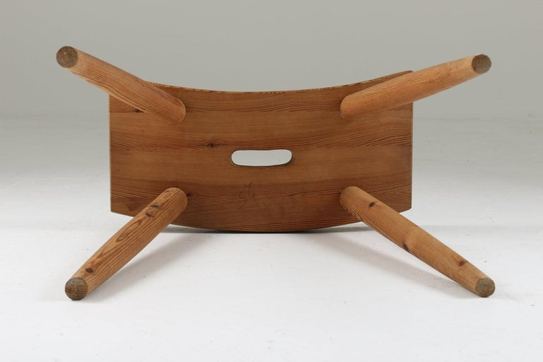 Swedish Stool in Pine, 1940s For Sale 3