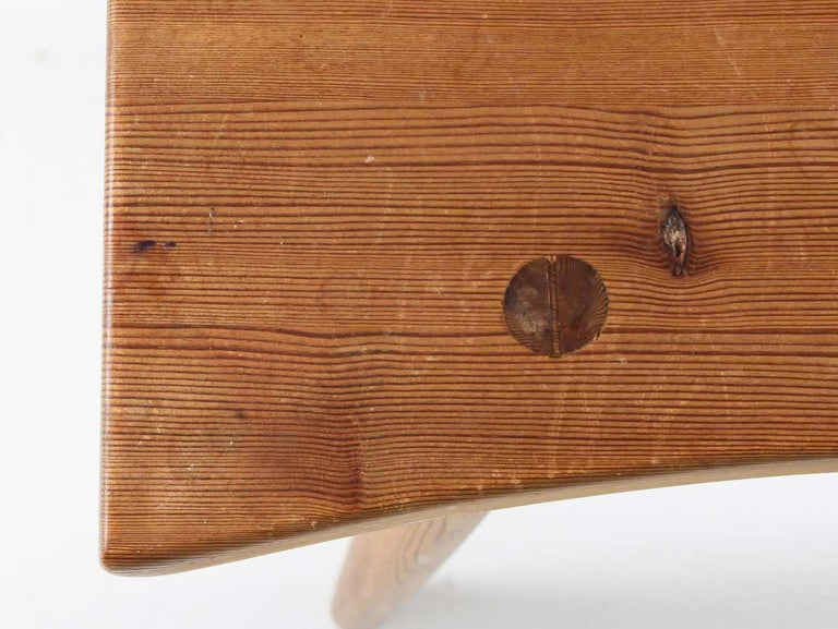 Swedish Stool in Pine, 1940s For Sale 1
