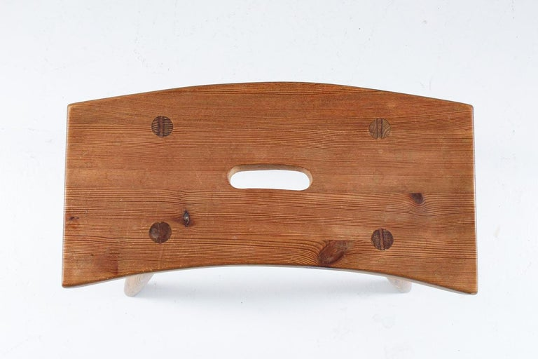 Swedish Stool in Pine, 1940s For Sale 2