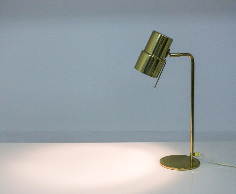 Scandinavian Table Lamp in Brass Model B 195 by Hans-Agne Jakobsson In Good Condition For Sale In Karlstad, SE