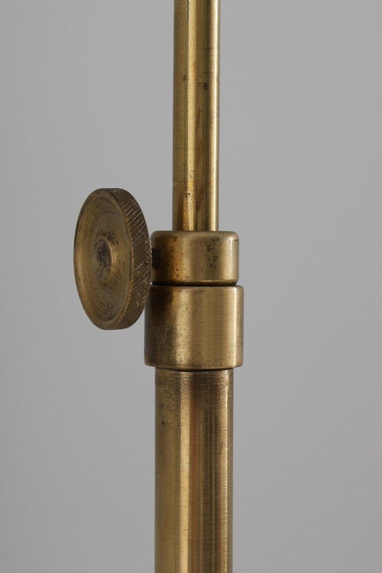 Swedish Modern Midcentury Floor Lamp in Brass by ASEA, 1940s For Sale 1