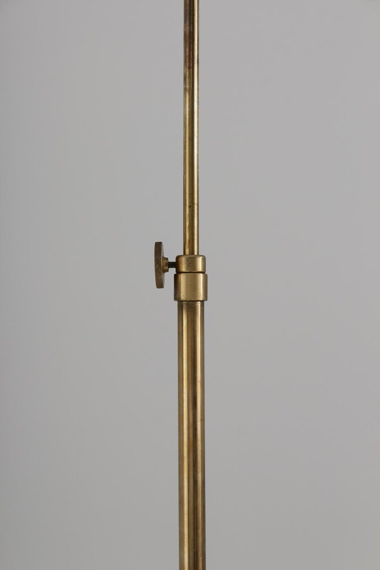 Swedish Modern Midcentury Floor Lamp in Brass by ASEA, 1940s For Sale 4