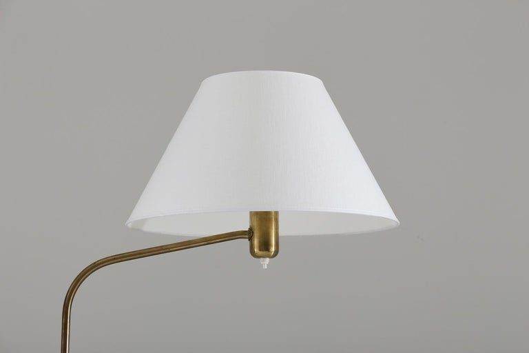 20th Century Swedish Modern Midcentury Floor Lamp in Brass by ASEA, 1940s For Sale