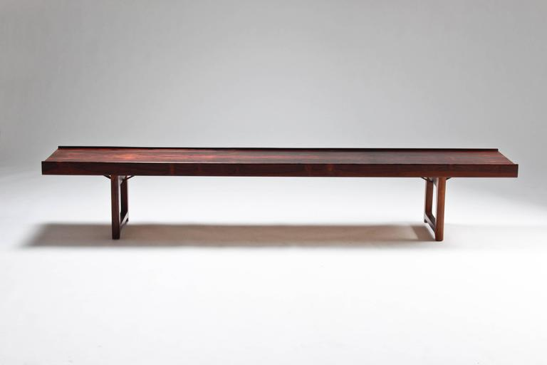 Mid-Century Modern Krobo Bench by Torbjørn Afdal For Sale
