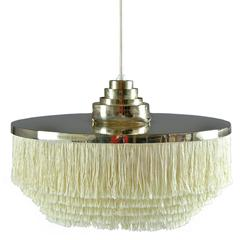 Ceiling Light by Hans-Agne Jakobsson in Brass and Silk