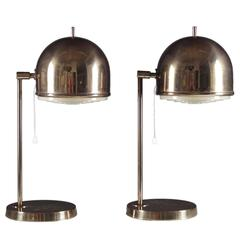 Table Lamps in Brass by Bergboms, Sweden