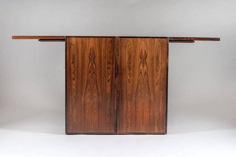 Scandinavian Modern Danish Bar Cabinet by Reno Wahl Iversen for Dyrlund For Sale