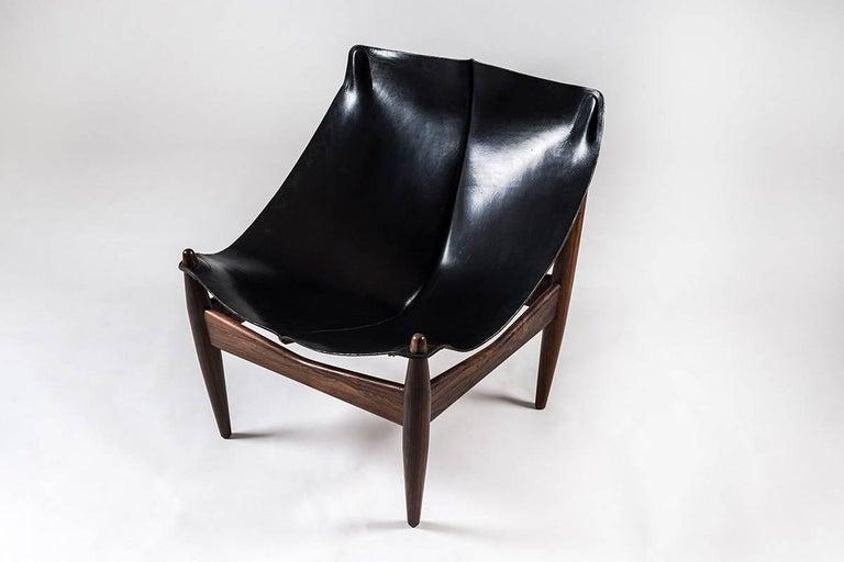 Scandinavian Modern Scandinavian Easy Chair and Ottoman Model 272 Designed by Illum Wikkelsø For Sale