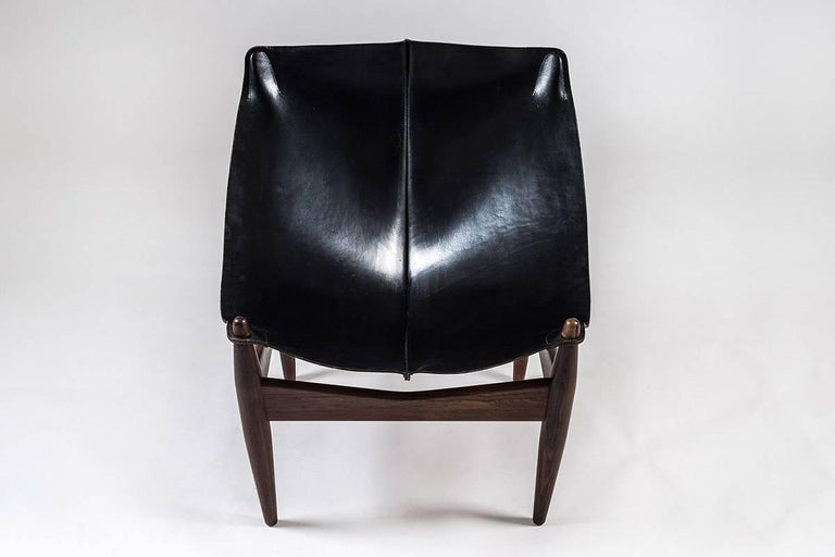 20th Century Scandinavian Easy Chair and Ottoman Model 272 Designed by Illum Wikkelsø For Sale