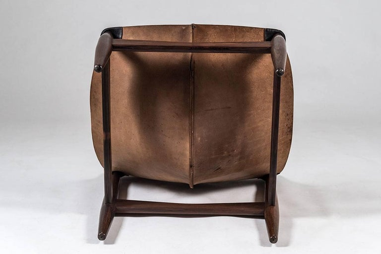 Rosewood Scandinavian Easy Chair and Ottoman Model 272 Designed by Illum Wikkelsø For Sale