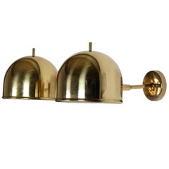 Wall Lamps in Brass by Bergboms, Sweden