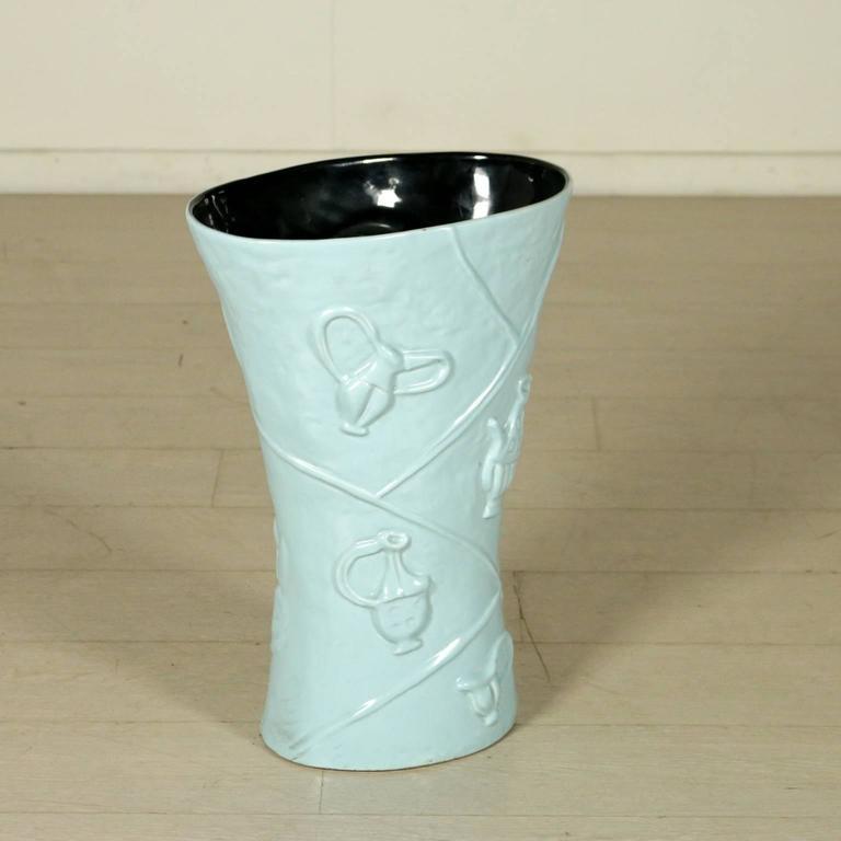 Ceramic Vase/Umbrella Stand by Campi for Società Ceramica Italiana Laveno, 1950s 2