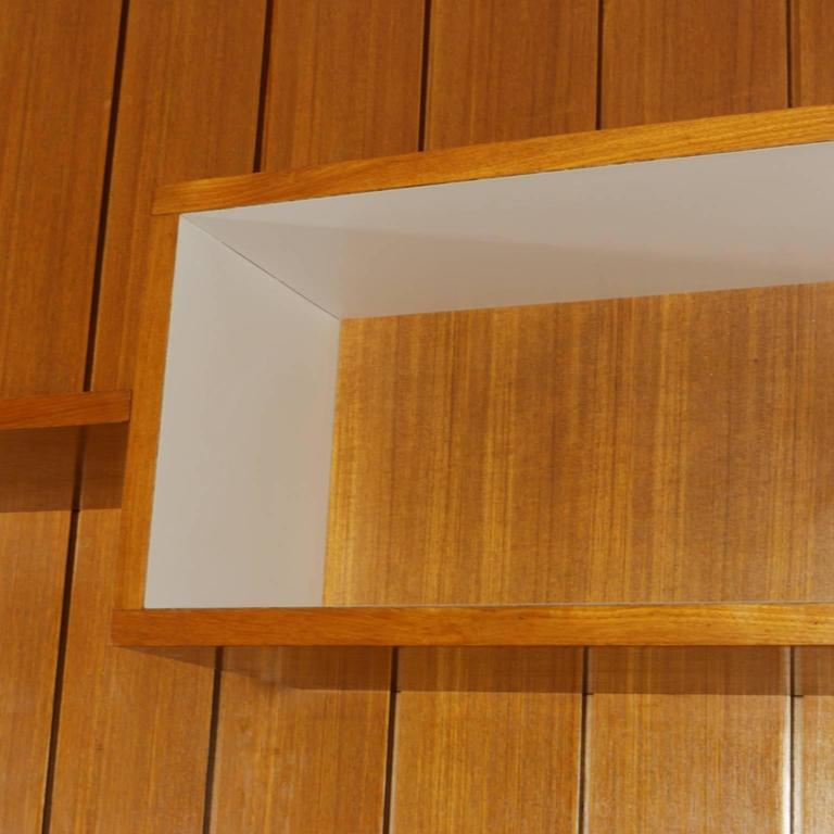 Sitting Room Cabinet Teak Veneer Formica Brass Screen Printed Panel, 1960s For Sale 3