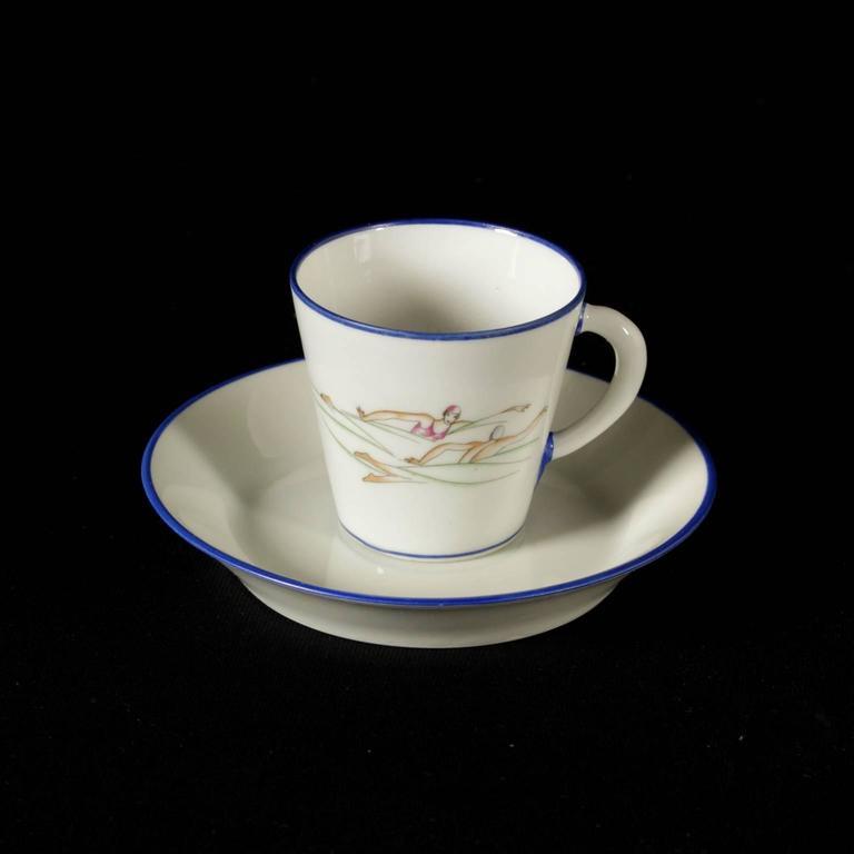 Coffee Service Porcelain by Gio Ponti for Richard Ginori, Italy ...