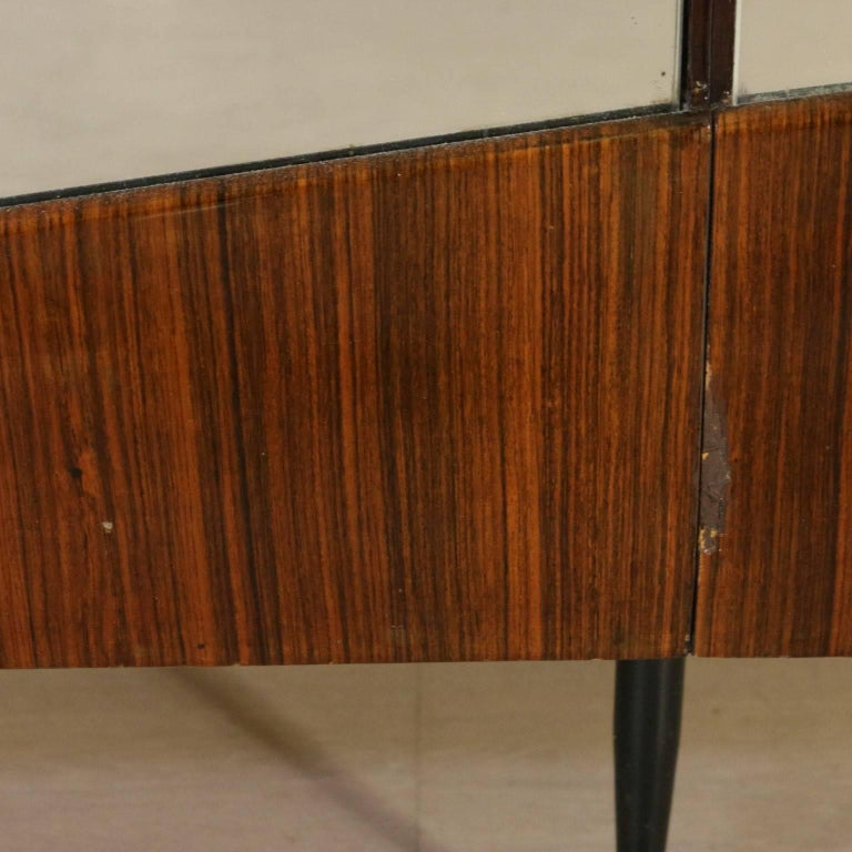 Wardrobe Rosewood Veneer Mirrors Decorative Wood Vintage, 1950s-1960s For Sale 2