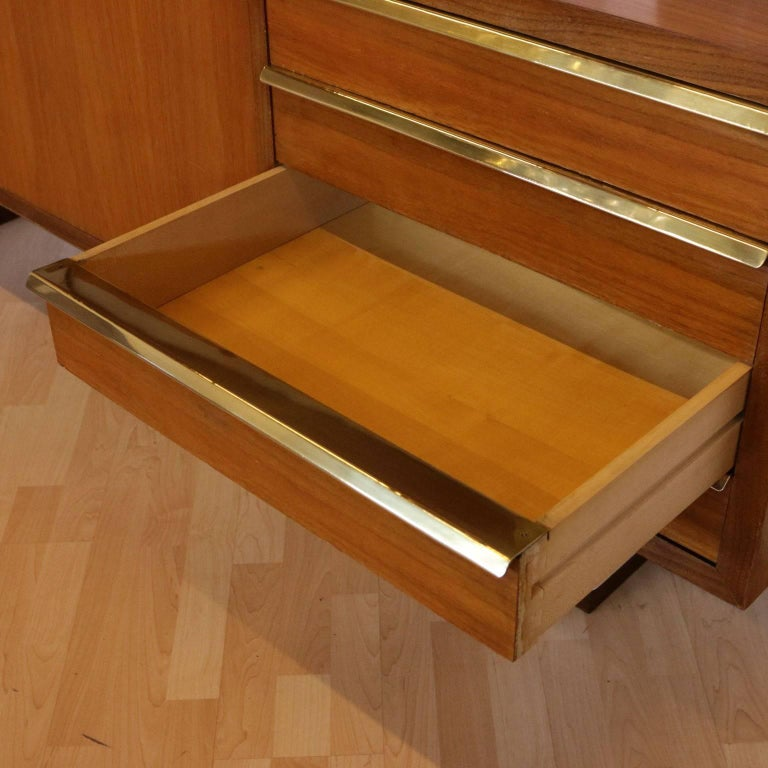 Bookcase Mahogany Veneer Lacquered Wood Vintage, Italy, 1960s For Sale 2