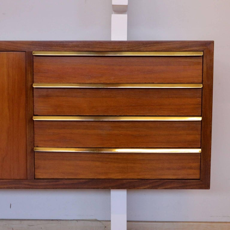 Bookcase Mahogany Veneer Lacquered Wood Vintage, Italy, 1960s For Sale 1