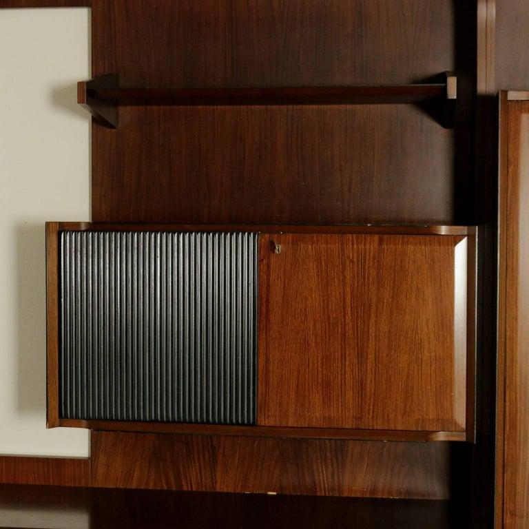 Italian Living Room Wardrobe Rosewood Veneer Vintage Manufactured in Italy, 1960s For Sale